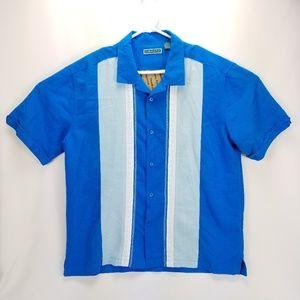 Cubavera Short Sleeve Blue Button up
